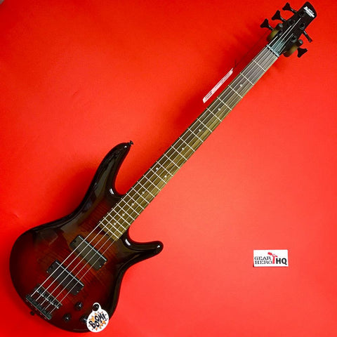 [USED] Ibanez GSR205SMCNB 5-String Electric Bass Guitar - Charcoal Brown Burst