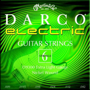 Darco 9300 Nickel Plated Electric Guitar Strings, Extra Light