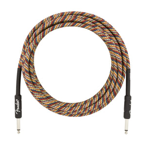 Fender 0990918299 18.6' Straight Festival Instrument Cable Pure Hemp, Rainbow