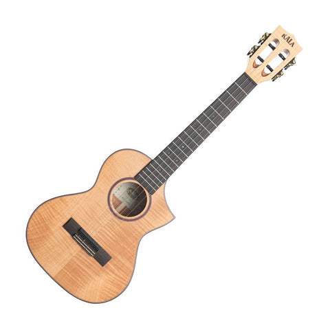 Kala KA-ASFM-T-C Tenor Ukulele, Natural Flame Maple