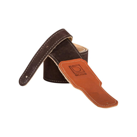 "Boss BSS-25-BRN 2.5"" Guitar Strap Brown Suede"