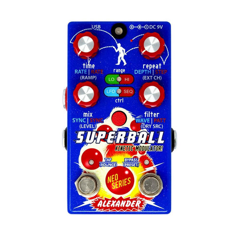 Alexander Pedals Superball Kinetic Modulated Delay