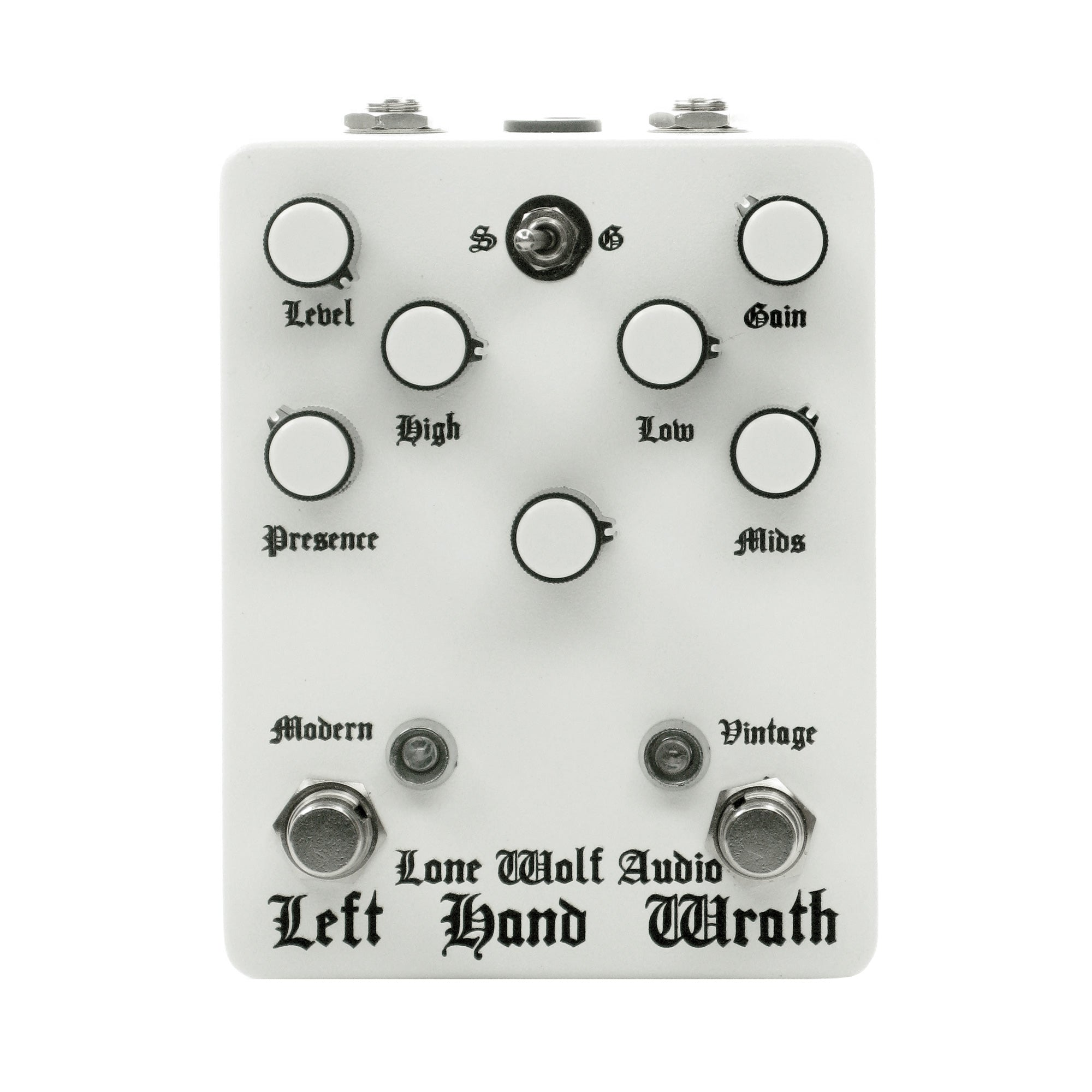 Lone Wolf Audio Left Hand Wrath Distortion, White (Gear Hero Exclusive)