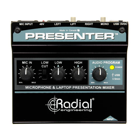 Radial Presenter Audio Presentation Mixer