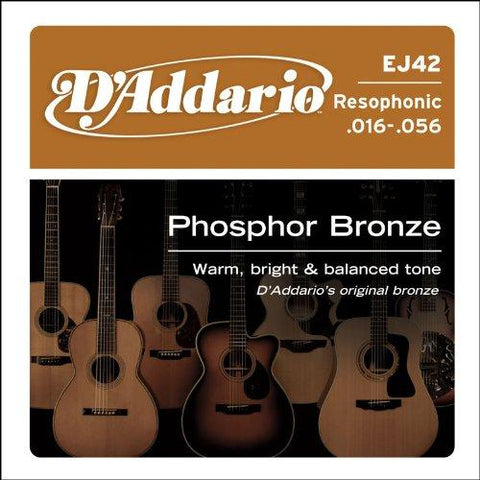 D'Addario EJ42 Resophonic Guitar Strings .016-.056