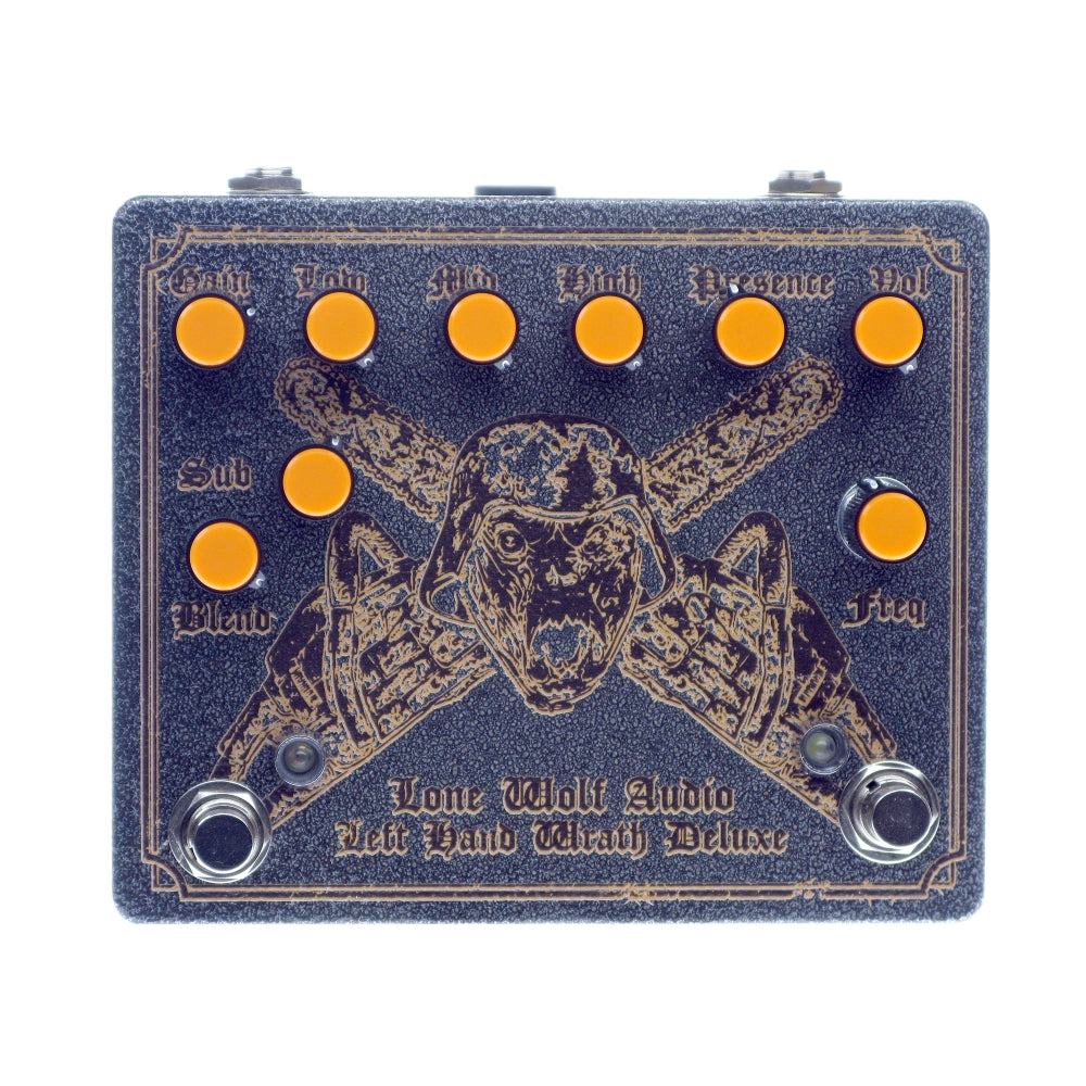 Lone Wolf Audio Left Hand Wrath Deluxe Distortion, Hammered Gray