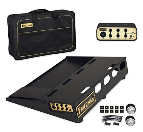 "Friedman Tour Pro 1520 Gold Pack 15"" x 20"" Pedal Board with Riser, Professional Carrying Bag, and Buffer Bay 6"