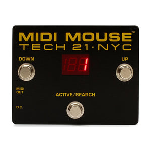 Tech 21 MM1 MIDI Mouse Battery Operable MIDI Foot Controller
