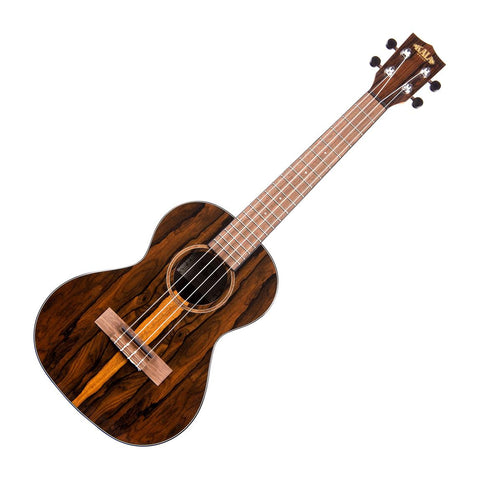 Kala KA-ZCT-T Tenor Ukulele, Natural High Gloss Ziricote