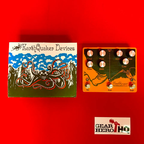 [USED] EarthQuaker Devices Hoof Reaper V2 Octave Fuzz (Gear Hero Exclusive Orange)