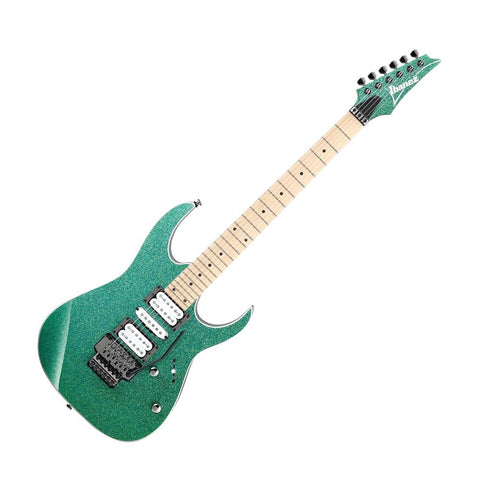 Ibanez RG470MS-PTSP RG Series Electric Guitar, Standard Turquoise Sparkle