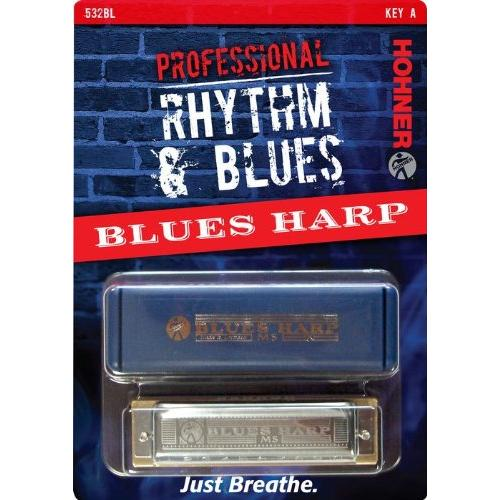 Hohner 532BX-A Blues Harp Harmonica, Key Of A