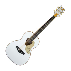 Gretsch G5021WPE Rancher Penguin Parlor Acoustic Electric Guitar, White