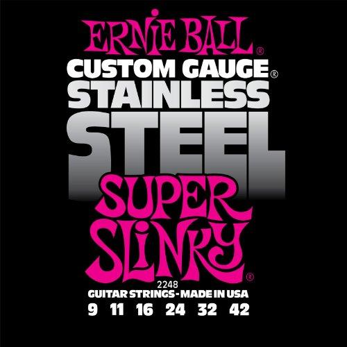 Ernie Ball 2248 Stainless Steel Super Slinky Set, .009 - .042