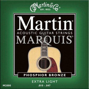 Martin 2000 Marquis Phosphor Bronze Acoustic Strings, Extra Light