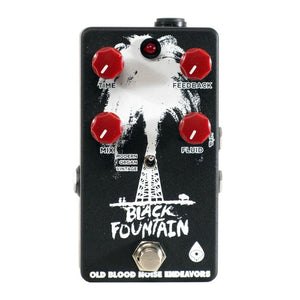 Old Blood Noise Endeavors Black Fountain Delay, Black and White (Gear Hero Exclusive)