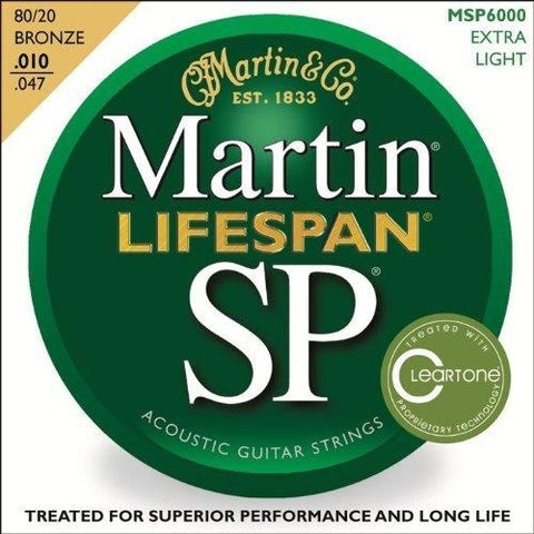 Martin MSP6000 SP Lifespan 80/20 Bronze Acoustic String, Extra Light