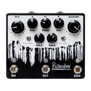 EarthQuaker Devices Palisades V2 Overdrive, Gear Hero Exclusive Inverted Black/White