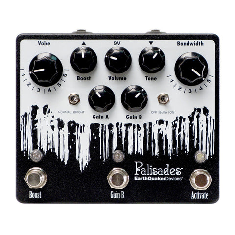 EarthQuaker Devices Palisades V2 Overdrive, Black (Gear Hero Exclusive)