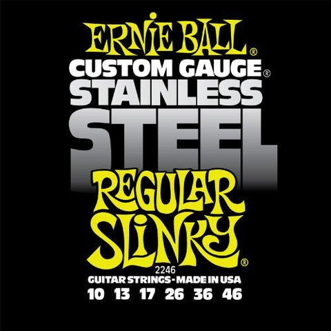 Ernie Ball 2246 Stainless Steel Regular Slinky Set, .010 - .046