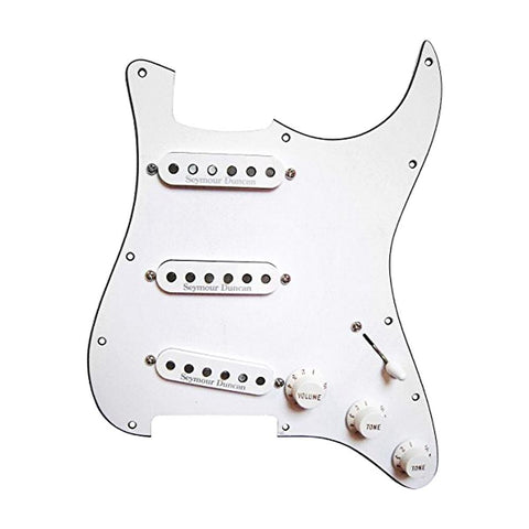 Seymour Duncan Prewired Pickguard with California 50's SSL-1 Pickups, White