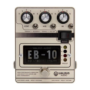 Walrus Audio EB-10 Preamp/EQ/Boost, Cream