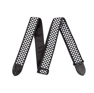 Fender 2-Inch Nylon Checker Board Strap, Black/White