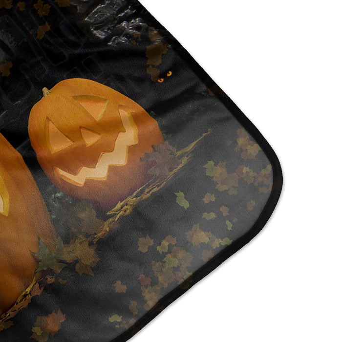 Halloween Pumpkins Collection Pixel Fleece Blanket - Paint Pros of the Palm Beaches