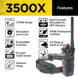 Dogtra 3500X Long Range IPX9K Waterproof 1.5-Mile Expandable Dual Dial Remote Trainer - DogTrainerStore