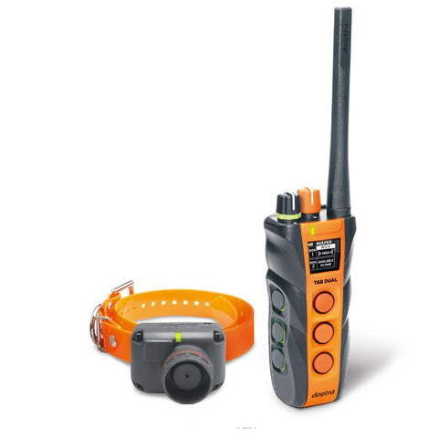 Dogtra T&B Dual 1-Dog Long Range 1.5-Mile Expandable Dual Dial Training & Beeper Remote Trainer - DogTrainerStore