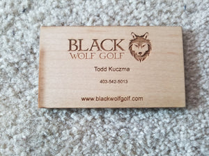 Business Cards - Wood