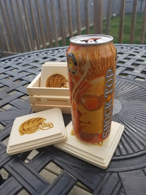 Wooden Coaster Set with Box
