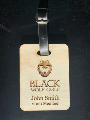 Wooden Bag Tags