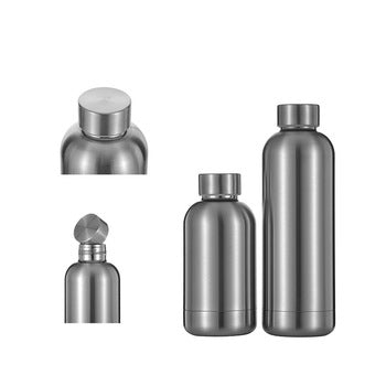 Stainless steel hot water bottle with double wall insulated