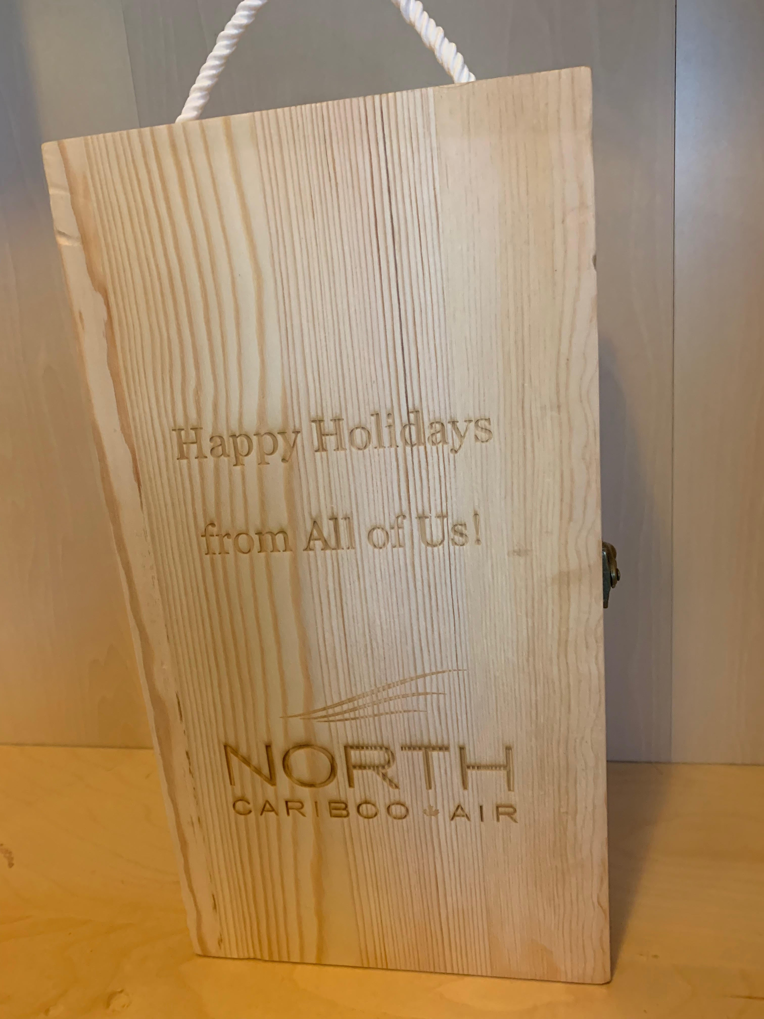 Custom Double Wooden Wine Boxes