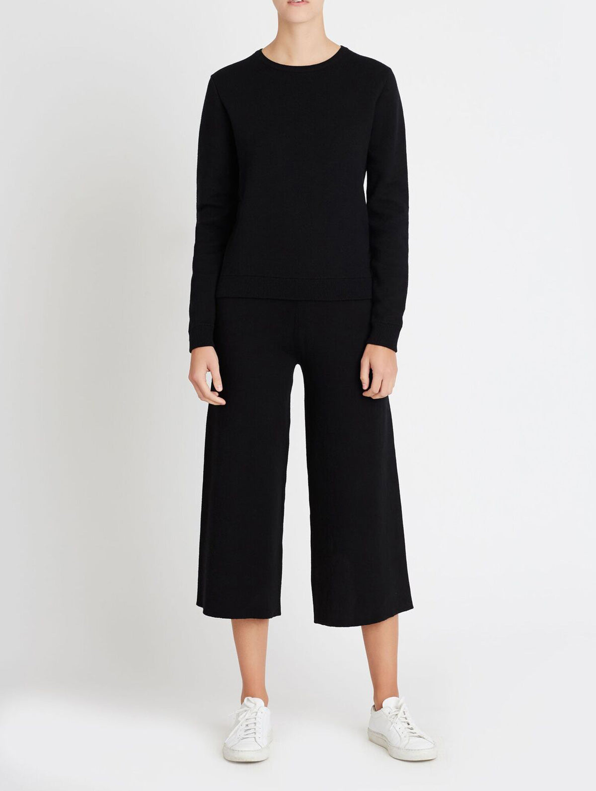 COTTON CASHMERE PANT, BLACK