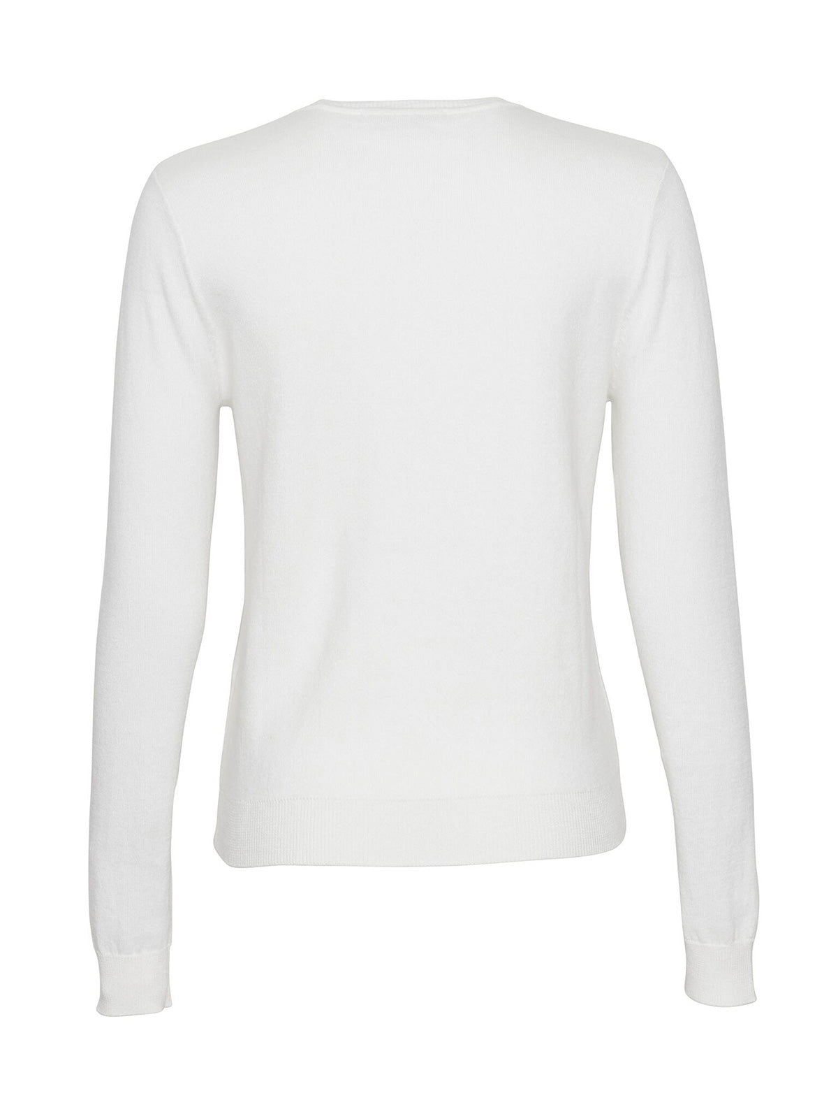COTTON CASHMERE V-NECK, CHALK