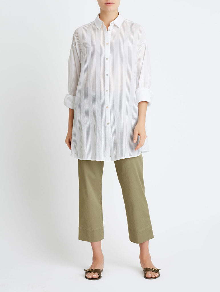 OVERSIZED BUTTON DOWN, WHITE