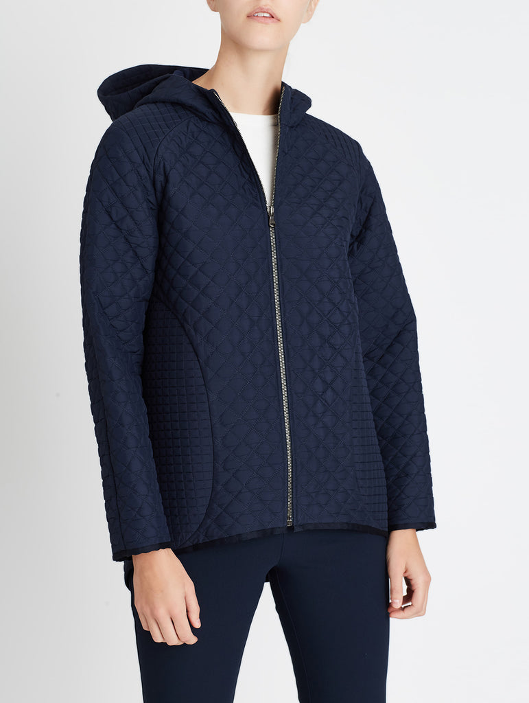 QUILTED PADDOCK HOODIE