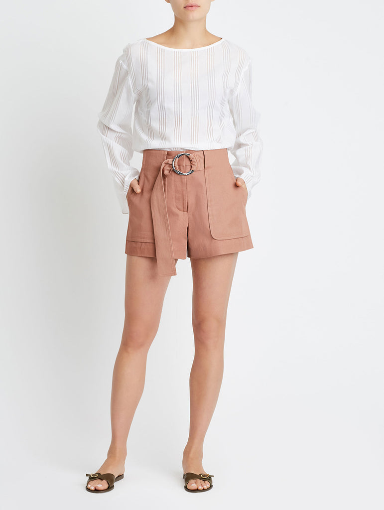 RIDING POCKET SHORTS, SALMON