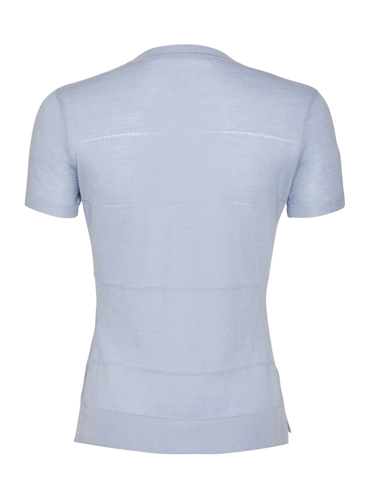 SIDE SLIT TEE, LIGHT BLUE