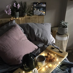 Neat homeware cosy bedroom