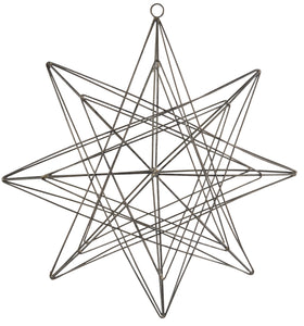 3D Metal Star Decoration