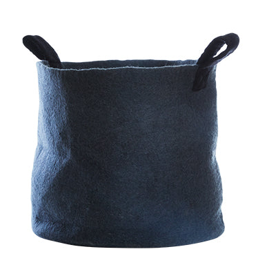 Large Felted dark grey storage basket