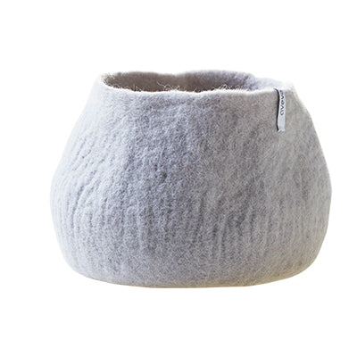 Large light grey felted plant pot