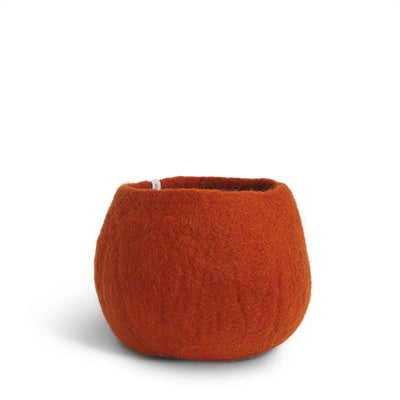 Medium Rust Felted Wool Plant Pot