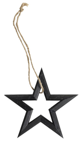Black Wooden Star Decoration