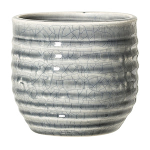 Blue Crackle Glaze Plant Pot