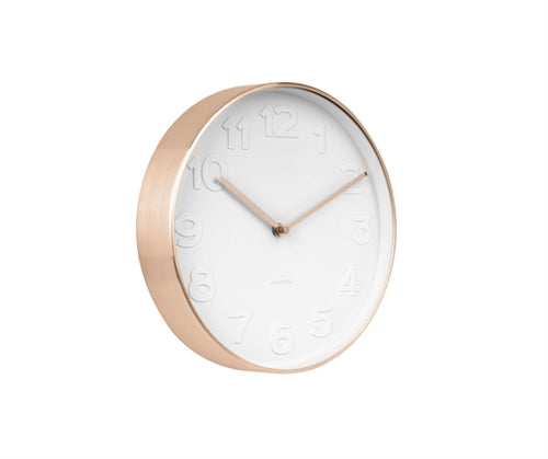 Brushed Copper Mr. White Wall Clock