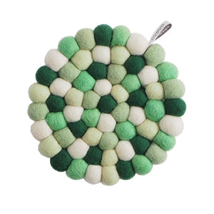 Round Bubble Jungle, Green, Kitchen Trivet